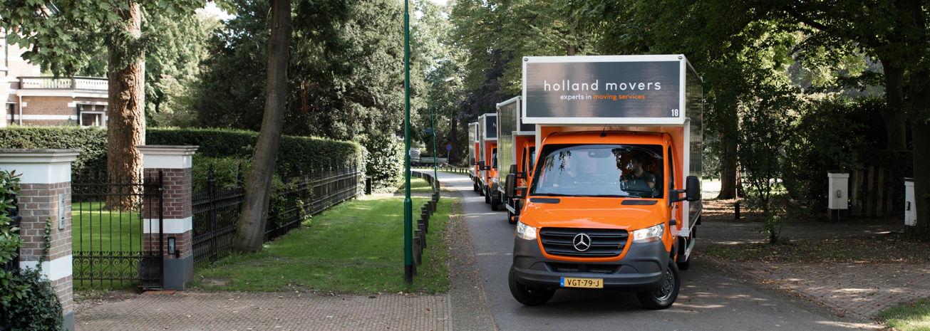 Aankomst Holland Movers
